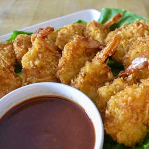 Coconut Beer Shrimp - Langenstein's Catering